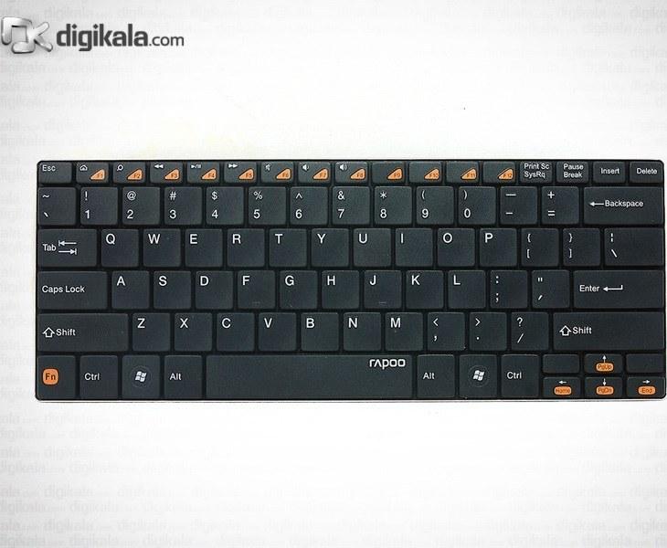 تصویر کیبورد بلوتوث بسیار باریک رپو مدل ای 6100 کیبورد رپو E6100-Ultra-Slim-Bluetooth-Keyboard