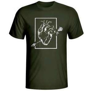 تی شرت مردانه طرح قلب