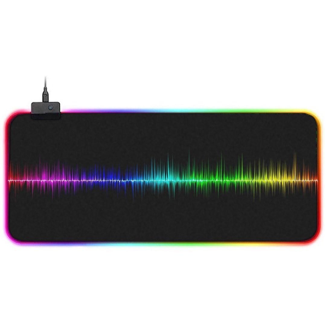 تصویر ماوس پد مخصوص بازی مدل GMS-WT-5 RGB طرح Soundwave Rainbow