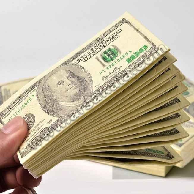 پکیج 15 عددی دستمال سفره طرح دلار و یورو