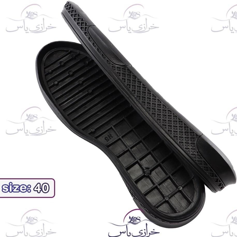 تصویر زیره کفش کارن مشکی مردانه سایز 40