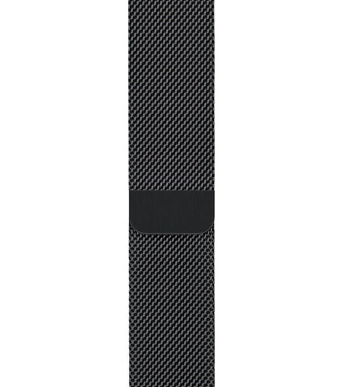 بند ساعت اپل واچ ۴۲ میلی متری سری Milanese Loop رنگ مشکی