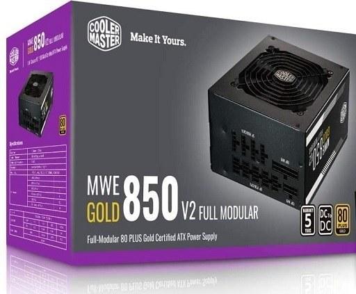 تصویر پاور کولر مستر مدل Cooler Master MWE Gold 850 V2 Full Modular