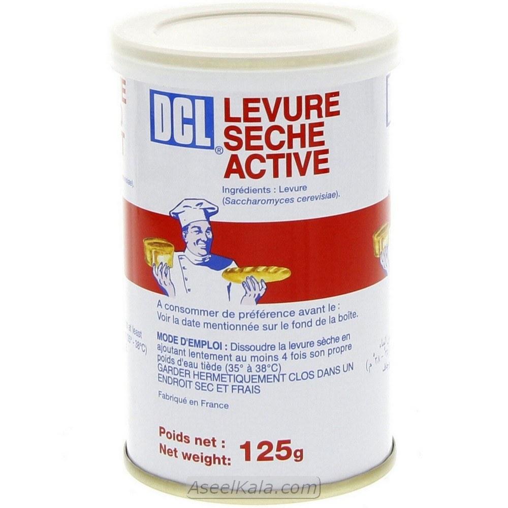 تصویر خمیر مایه فوری دی سی ال DCL فرانسوی وزن 125 گرم