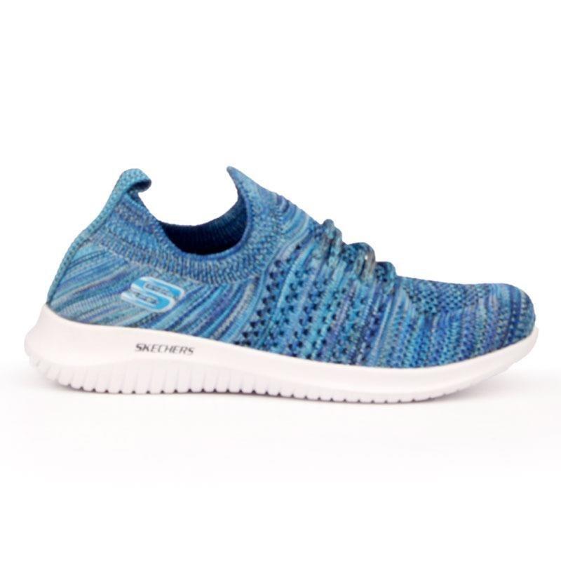 تصویر کفش ورزشی زنانه طرح اسکیچرز KRNO.S سرمه ای