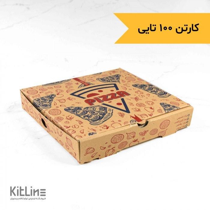 تصویر جعبه مینی  پیتزا کاغذی ۲۰×۲۰ سانتیمتر