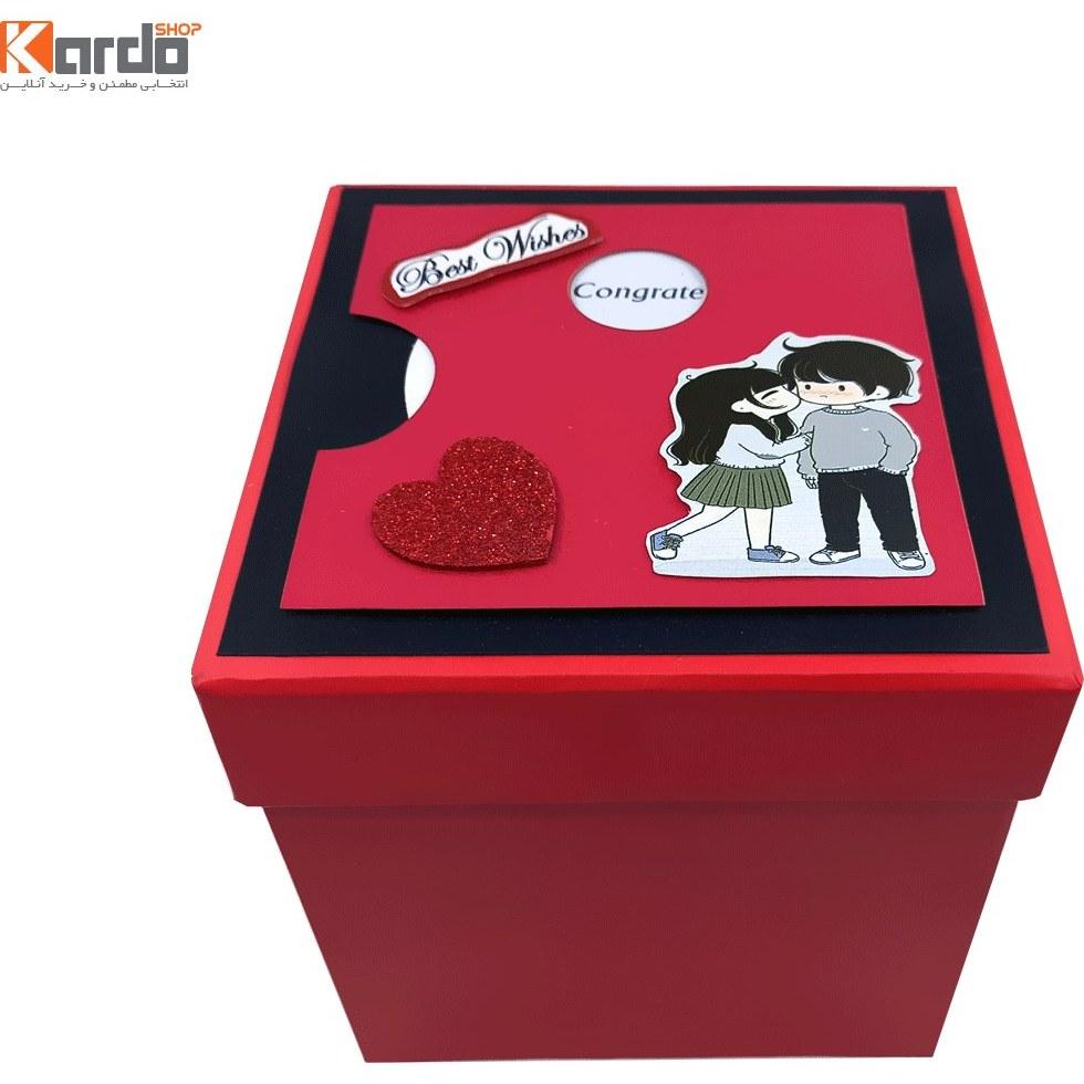 تصویر جعبه هدیه و کادو طرح ولنتاین