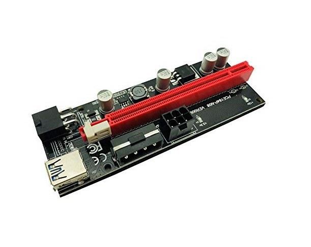 تصویر رایزر گرافیک تبدیل PCI EXPRESS X1 به X16 مدل 009s Plus