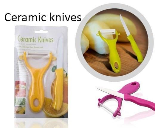 پکیج پوست کن و چاقو سرامیکی Ceramic Knives