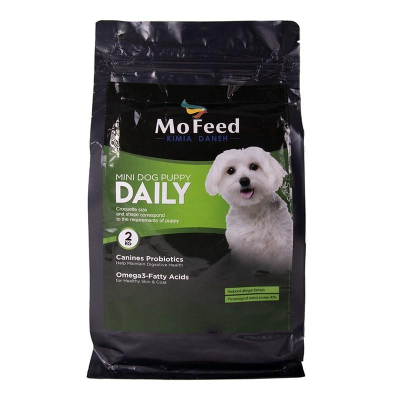 غذای خشک MOFEED مخصوص سگ نابالغ نژاد کوچک 2 کیلویی