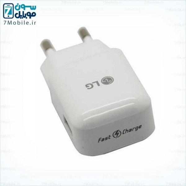 main images آداپتور اصلی فست شارژ ال جی 1.8 آمپر (بدون کابل) LG 1.8 Amp Fast Charger Adaptor