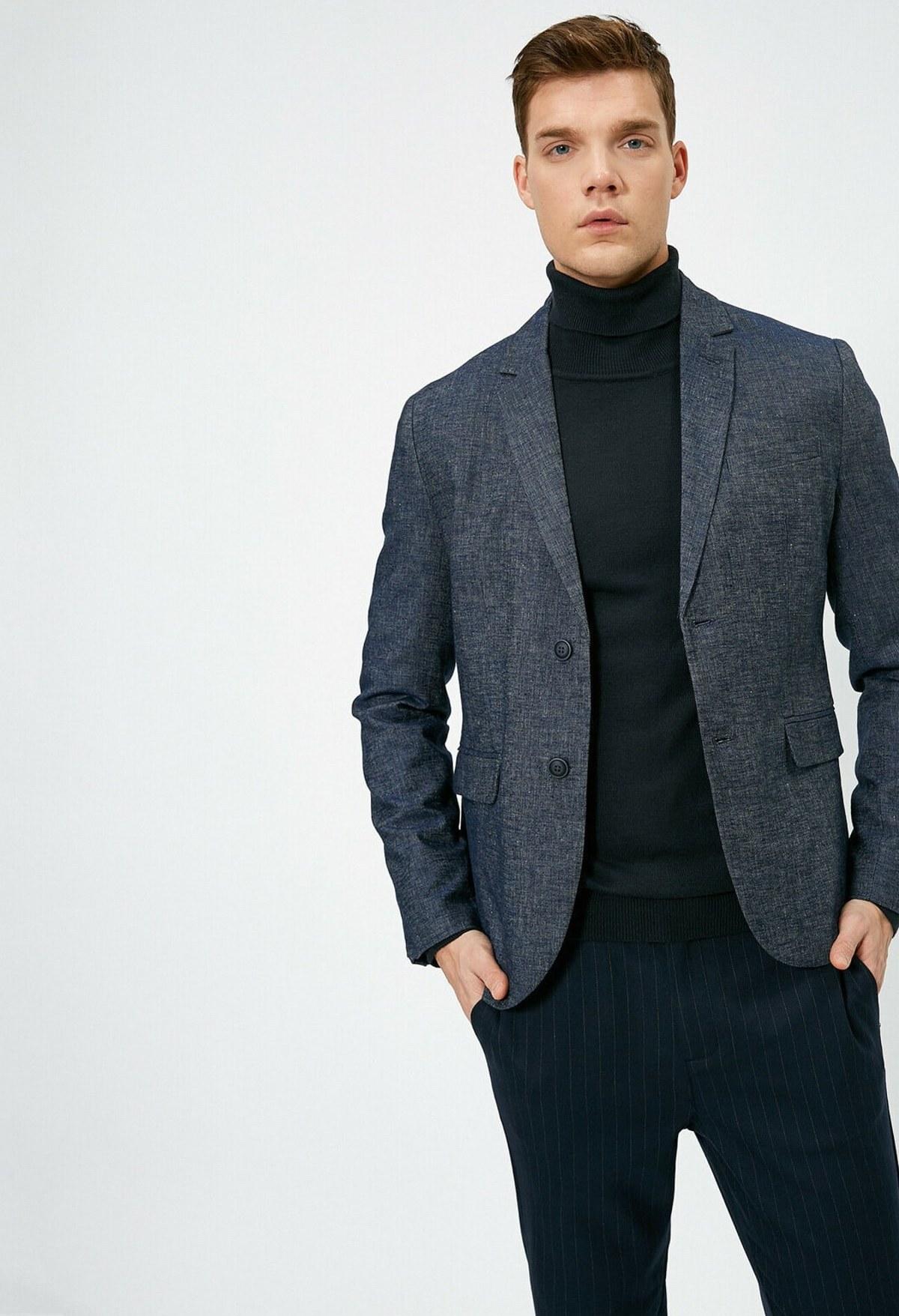 تصویر  ژاکت جین مدل 2021 برند کوتون رنگ لاجوردی کد ty34876929