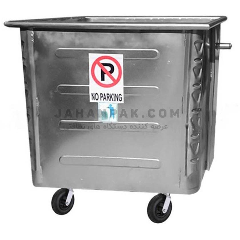 تصویر سطل زباله صنعتی 770 لیتری مکعب پرسی ورق 1.5
