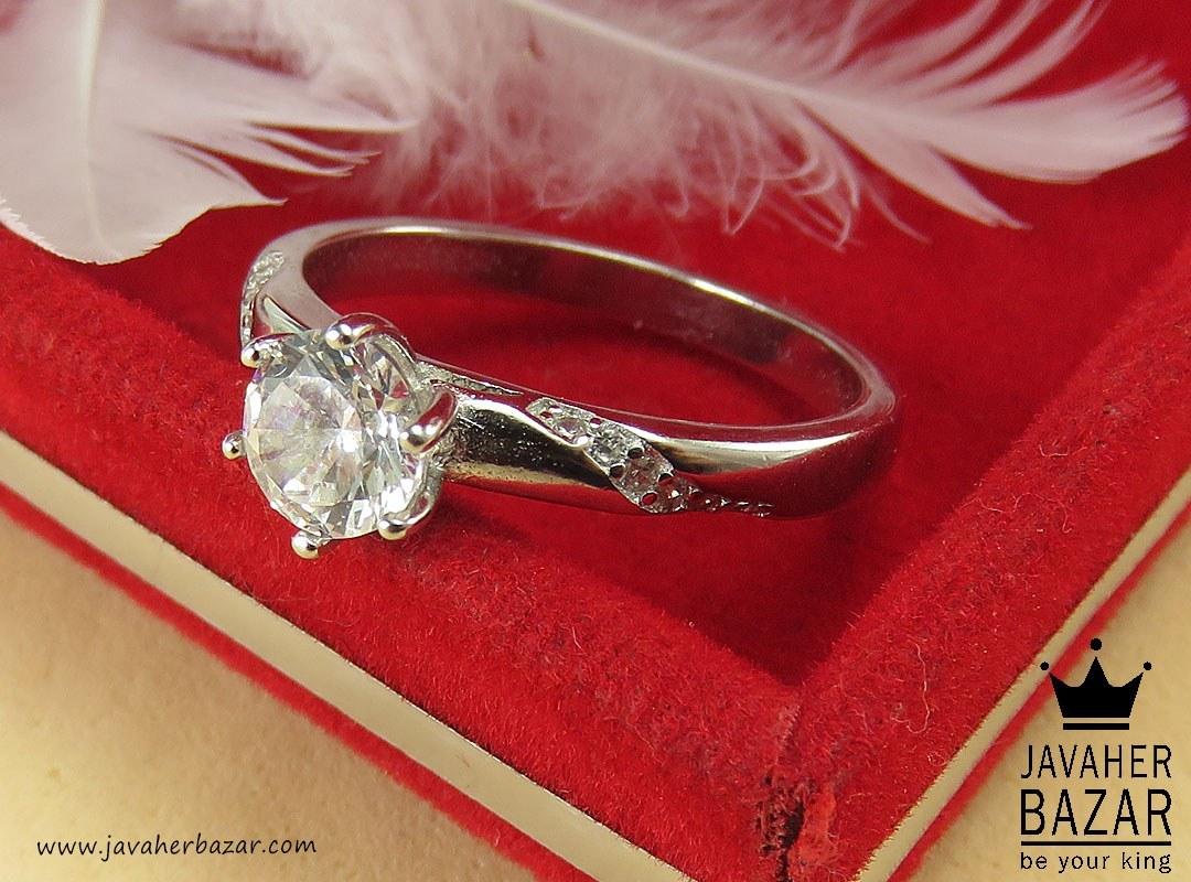 انگشتر نقره ظریف زنانه - کد 40061