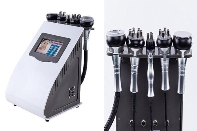 تصویر دستگاه لیزر RF زیبایی و لاغری موضعی صورت و بدن و کاهش وزن 6 هندپیس کویتیشن + وکیوم + آر اف + التراسونیک + فرم دهنده سینه و باسن