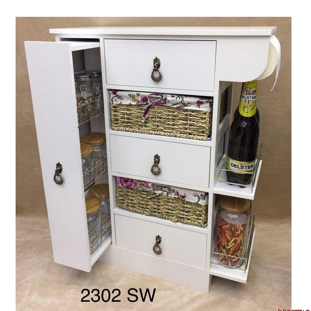 تصویر میز چوبی مخصوص جای سیب زمینی و پیاز سوپر رول (سفید) کد کالا 519