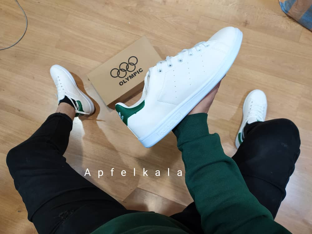 تصویر کفش اسپرت مردانه و زنانه آدیداس adidas استن اسمیت رنگ سفید