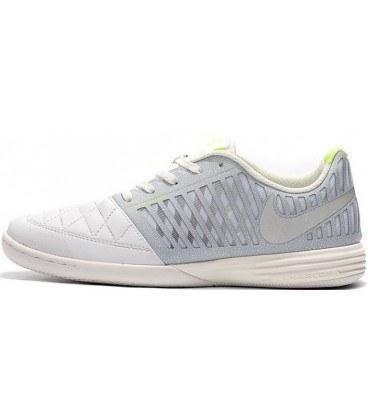 کفش فوتسال نایک مدل Nike Lunar Gato II IC Football Grey/White/Yellow