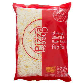 پنیر پیتزا پروسس رنده شده 206 مقدار 2000 گرم | 206 Shredded Processed Pizza Cheese 2000 gr