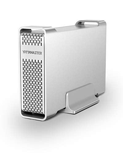 """تصویر Yottamaster Aluminium USB3.0 3.5 """"محفظه هارد 10TB برای 3.5 اینچ SATA HDD [پشتیبانی UASP]"""