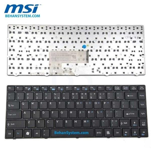 تصویر کیبورد لپ تاپ MSI مدل CR460 به همراه لیبل کیبورد فارسی جدا گانه