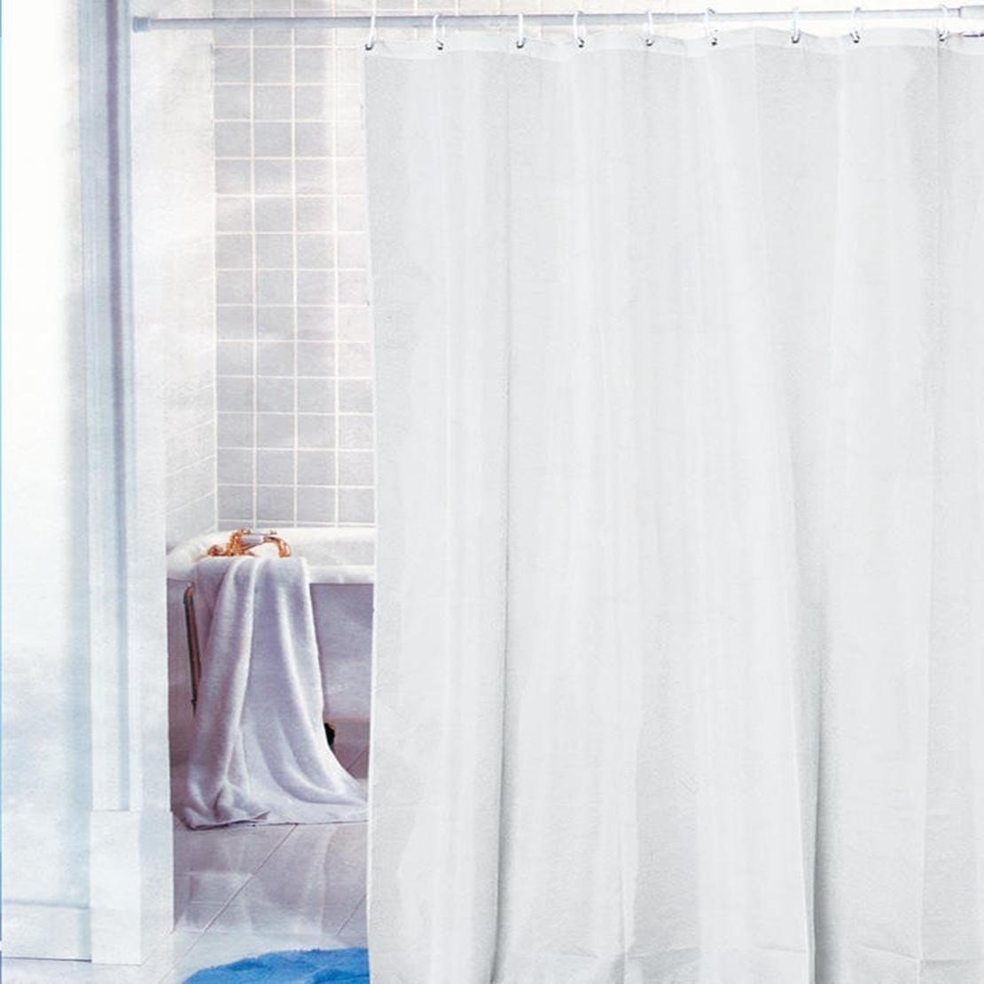 تصویر پرده حمام طرح سفید ساده