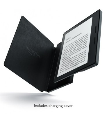 کتابخوان آمازون مدل نیو کیندل اوسیس با کاور شارژر چرمی Amazon New - Kindle Oasis E-reader with Leather Charging Cover - Black