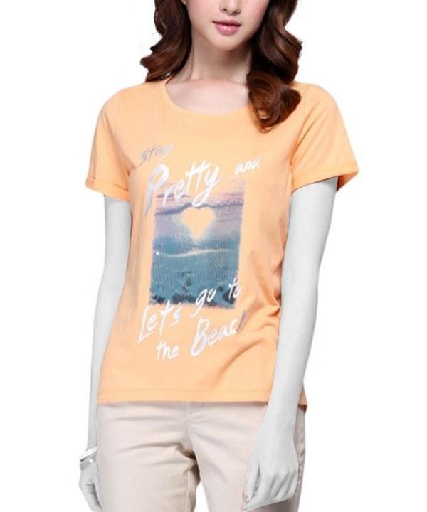 تی شرت پولک دوزی زنانه جین وست