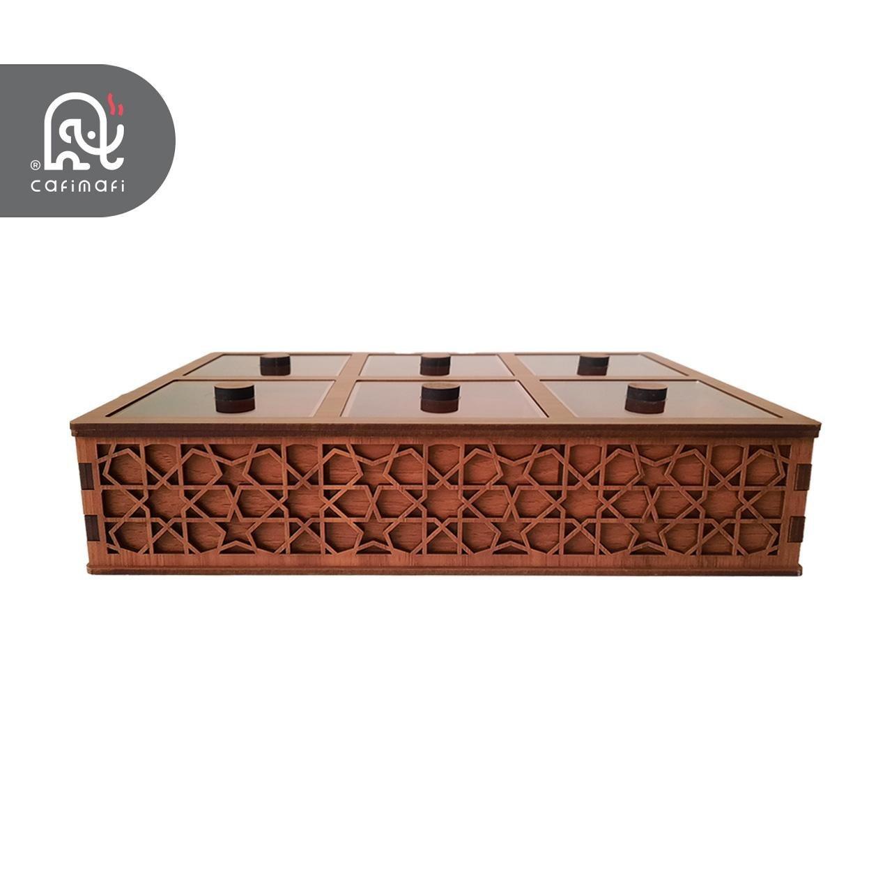 تصویر جعبه تی بگ پذیرایی مدل سنتی Tea bag Box Sonati