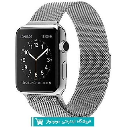Milanese Metal Band For Apple Watch 38/40/42/44mm silver | بند فلزی Millanese اپل واچ مناسب برای 38-40-42-44 ميلي متري رنگ نقره ای
