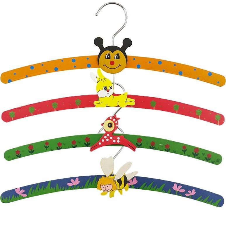 تصویر چوب لباسی چوبی طرح کارتونی تکی hanger code:705003