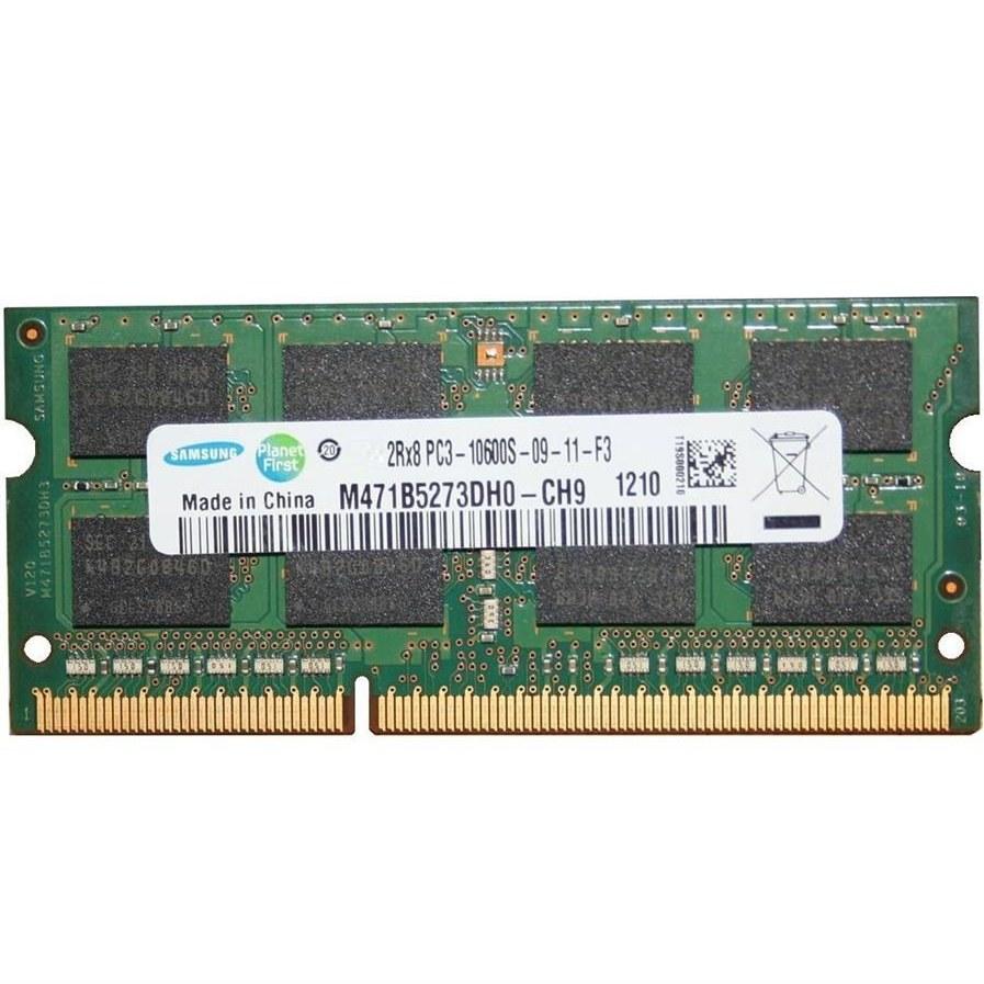 رم لپ تاپ سامسونگ ۲ گیگابایت DDR۳ با فرکانس ۱۳۳۳ مگاهرتز | SAMSUNG PC3-10600s DDR3 2GB 1333MHz Laptop Memory