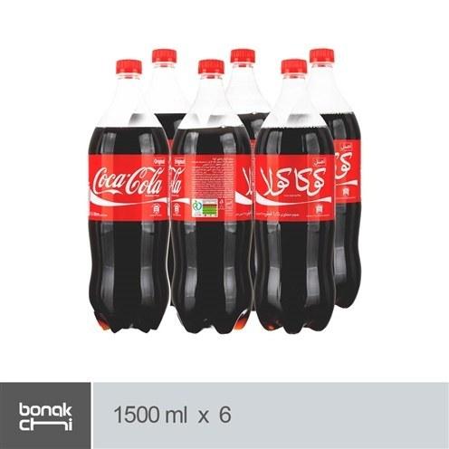 تصویر نوشابه با طعم کولا کوکاکولا - 1/5 لیتری بسته 6 عددی Coca Cola Soft Drink - 1.5 L