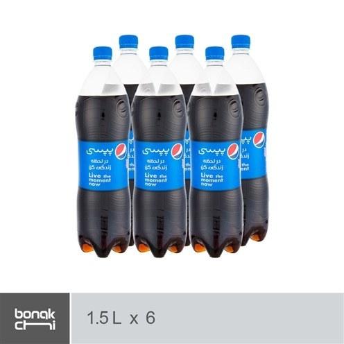 تصویر نوشابه با طعم کولا پپسی - 1.5 لیتر | بسته 6 عددی Pepsi Cola Soft Drink - 1.5 L