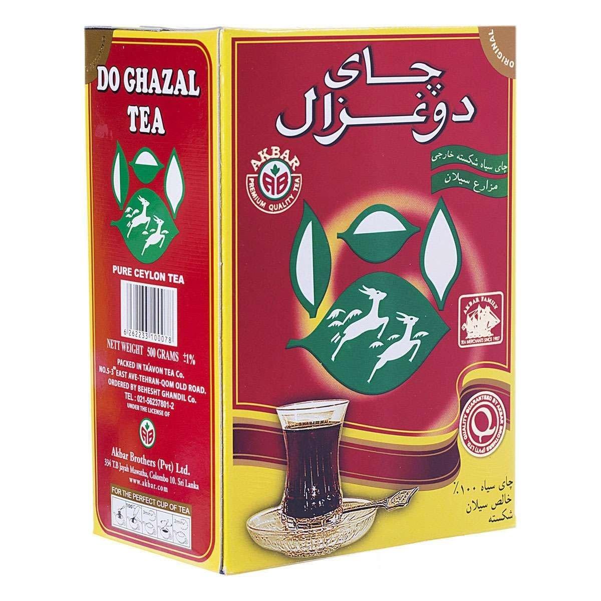 تصویر چای سیاه شکسته ۱۰۰% خارجی (سیلان) دوغزال ۵۰۰ گرمی -