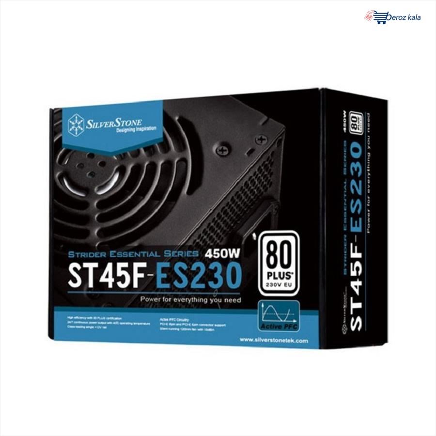 تصویر منبع تغذیه کامپیوتر سیلوراستون مدل Essential ST45F-ES230 ا Essential ST45F-ES230 Power Essential ST45F-ES230 Power