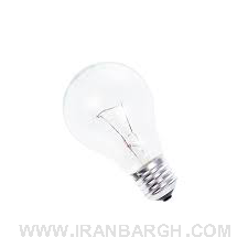 تصویر لامپ رشته ای 100 وات نور