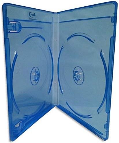 تصویر کولر Blu-ray 12-mm 10 Pak با آرم نقره ای Blu-ray آرم ا 10-Pak Double 12mm Blu-ray Case with Silver Painted Blu-ray Logo 10-Pak Double 12mm Blu-ray Case with Silver Painted Blu-ray Logo