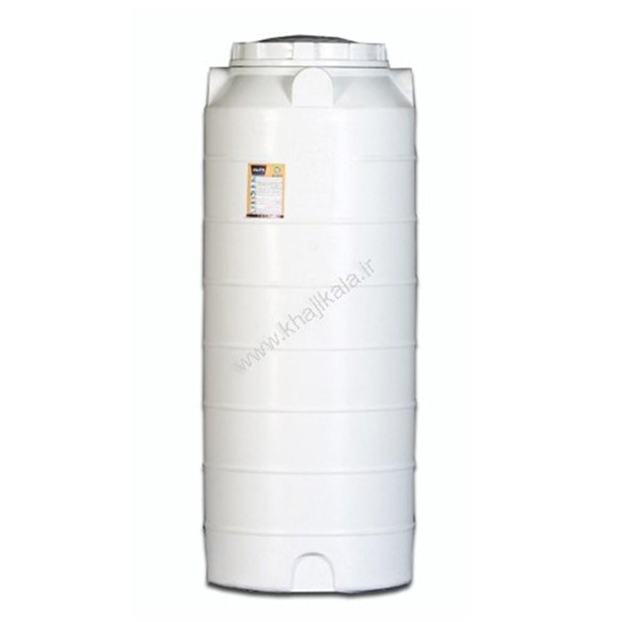 تصویر مخزن پلی اتیلن 500 لیتری خزر منبع عمودی بلند 3 لایه