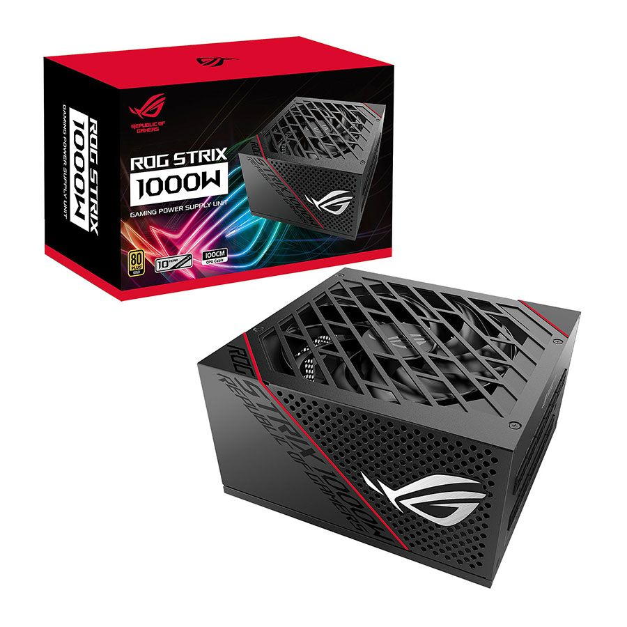 تصویر ASUS ROG STRIX 1000W Full Modular 80Plus Gold Gaming Power Supply پاور گیمینگ 1000 وات ایسوس مدل ROG STRIX 1000W