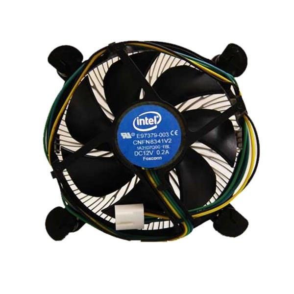 تصویر فن خنک کننده اورجینال پردازنده اینتل استوک سوکت 1151 1313