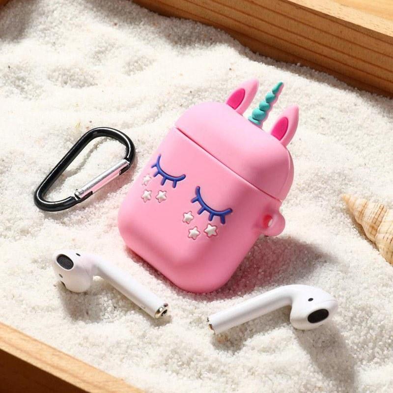 کاور سیلیکونی ایرپاد طرح یونیکورن Small Unicorn Case For AirPods  