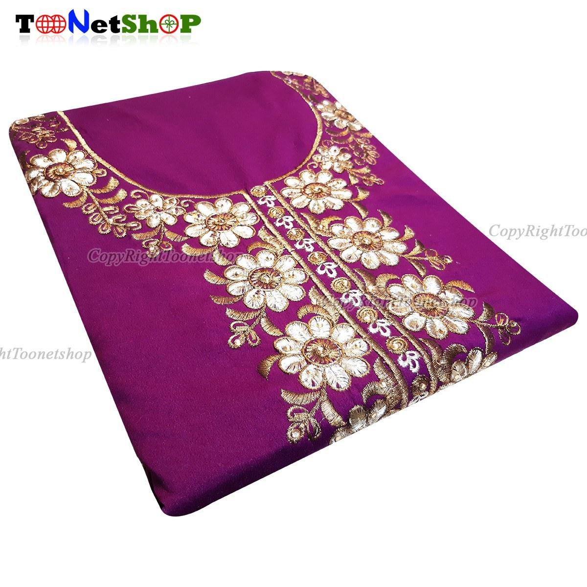عکس پک پارچه کرپ لباس هندی مدل پنجابی کد 1045  پک-پارچه-کرپ-لباس-هندی-مدل-پنجابی-کد-1045