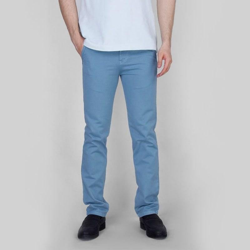 شلوار کتان مردانه یزدباف آبی کبریتی مدل fld_yzd_121_bluk |