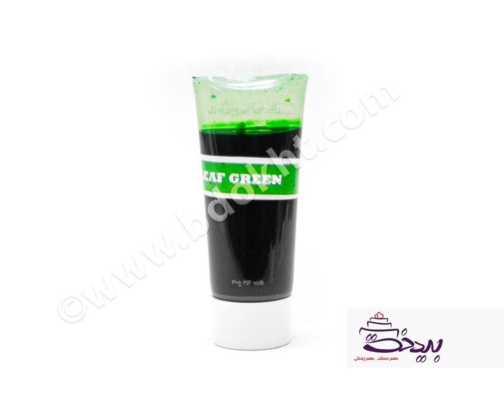 تصویر رنگ خوراکی ژلهای سبز برگی
