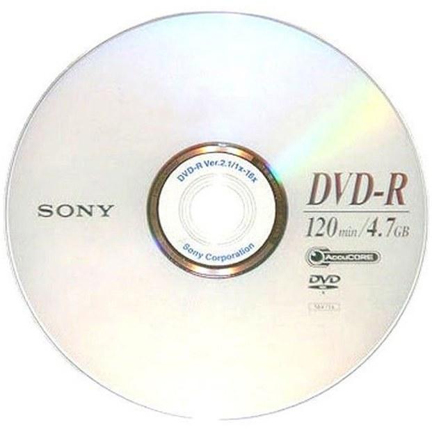 دی وی دی خام سونی مدل DVD-R |