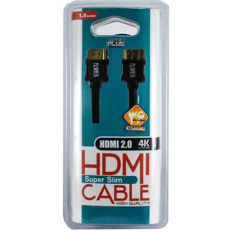 تصویر کابل2.0 HDMI کی نت پلاس1.8m