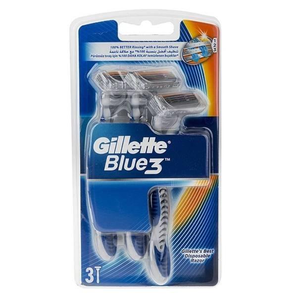 تصویر خود تراش مردانه ژیلت مدل Blue 3 بسته ۳ عددی ا Gillette Blue 3 Shave Blade For Men Pack Of 3 Gillette Blue 3 Shave Blade For Men Pack Of 3