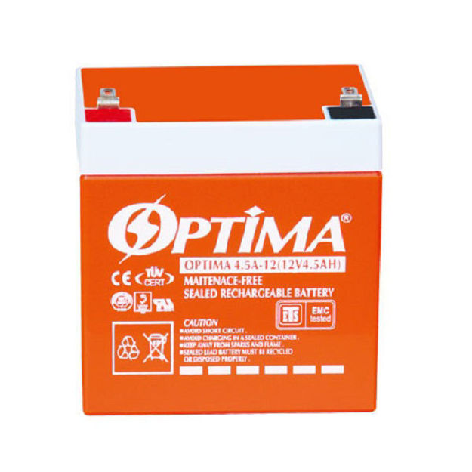 تصویر باتری 12 ولت 4.5 آمپر اپتیما