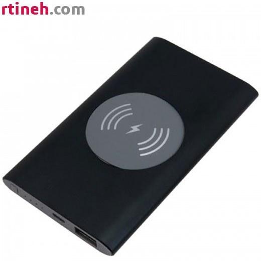 تصویر باکس پاوربانک با قابلیت شارژ بیسیم و خروجی USB با ماژول 5ولت 1 آمپر - مشکی